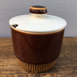 Poole Pottery Chestnut Lidded Sugar/Jam/Preserve Pot