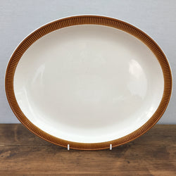 Poole Pottery Chestnut Oval Platter