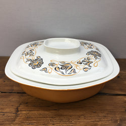 Poole Pottery Desert Song Lidded Serving Dish