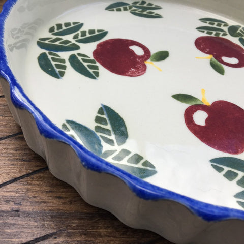 "Poole Pottery Dorset Fruit 10"" Flan Dish, Apples"