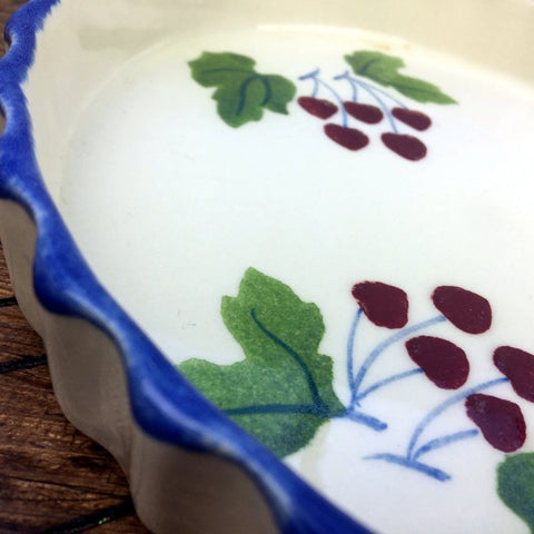 "Poole Pottery Dorset Fruit Flan Dish 8"" Cherries"