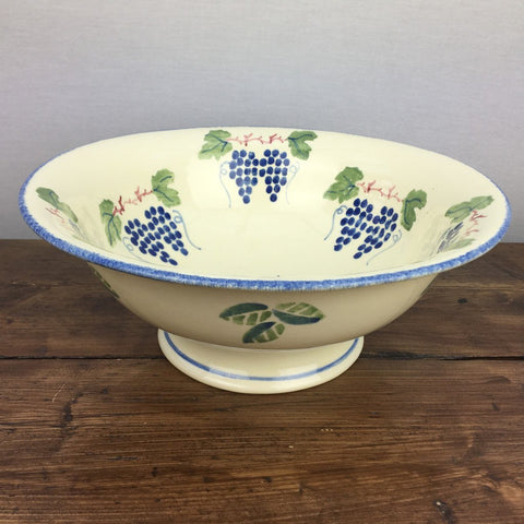 Poole Pottery Dorset Fruit Footed Serving Bowl (Grapes)