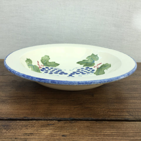 Poole Pottery Dorset Fruits Grapes Soup Bowl, Rimmed, 7.25""