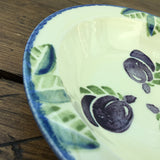 Poole Pottery Dorset Fruits Plums Soup Bowl, Rimmed, 7.25""