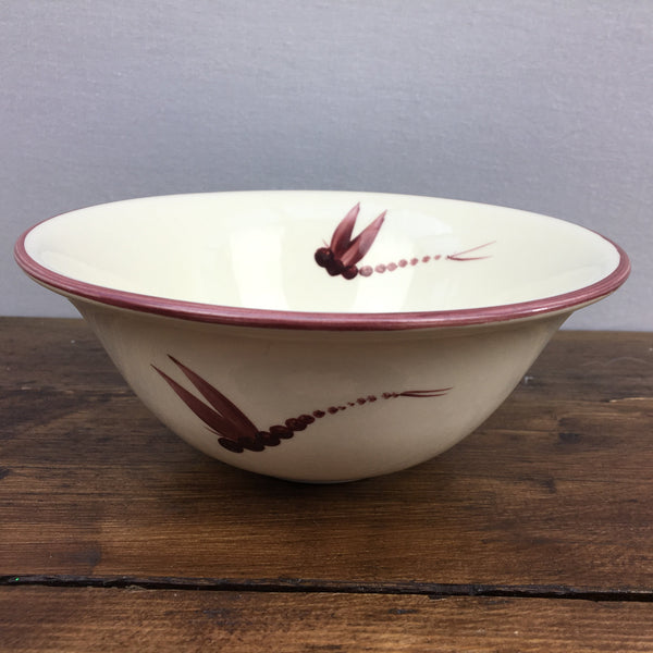Poole Pottery Dragonfly Red Soup Bowl