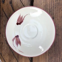 Poole Pottery Dragonfly Burgundy Coffee Saucer