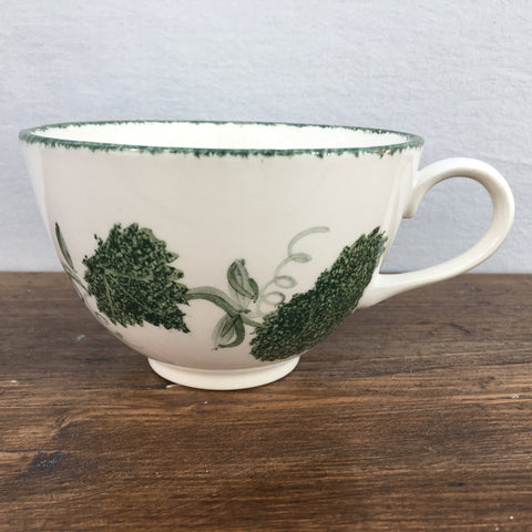 Poole Pottery Green Leaf Breakfast Cup