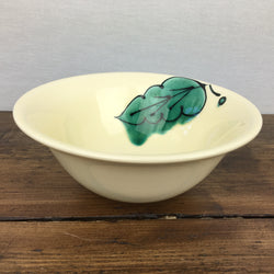 Poole Pottery Green Leaves Soup / Cereal Bowl (1 Leaf)