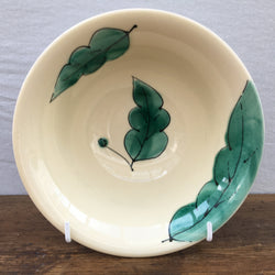 Poole Pottery Green Leaves Cereal Bowl