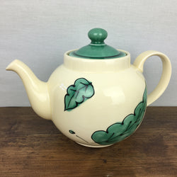 Poole Pottery Green Leaves Teapot