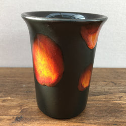 Small Poole Pottery Infusion Vase - Black and Flame