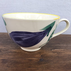 Poole Pottery Legumes Breakfast Cup - Yellow Border