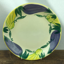 Poole Pottery Legumes Dinner Plate - Yellow Border