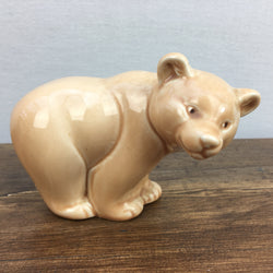Poole Pottery Light Brown Glaze Bear Cub, Standing
