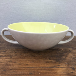 Poole Pottery Lime Yellow & Seagull Soup Cup