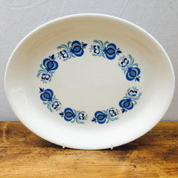 Poole Pottery Morocco Oval Platter/Steak Plate