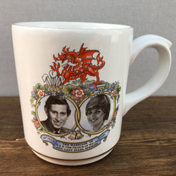 Poole Pottery Charles & Diana Commemorative Mug