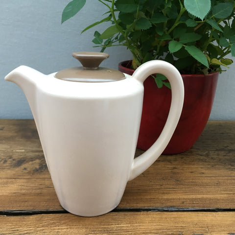 Poole Pottery Twintone Sepia & Mushroom Hot Water Pot, 0.75 Pints