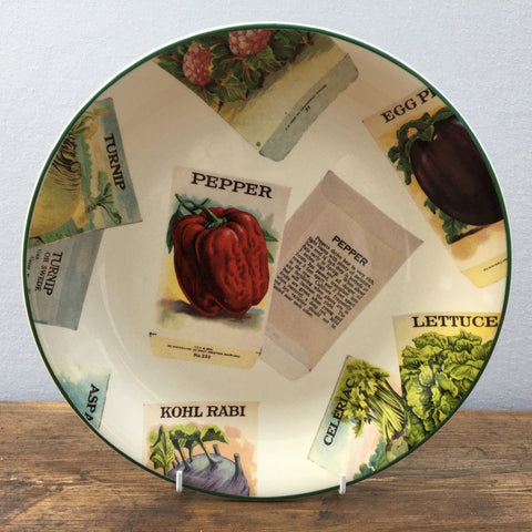 Poole Pottery Seed Packets Dinner Plate (Pepper)