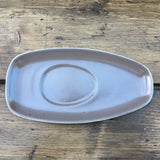Poole Pottery Twintone Mushroom & Sepia Gravy Boat Stand