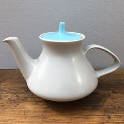 Poole Pottery Twintone Sky Blue & Dove Grey Teapot, 1.25 Pint
