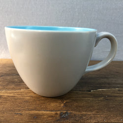 Poole Pottery Sky Blue & Dove Grey Coffee Cup (Streamline)