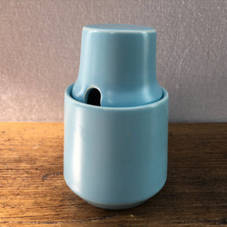 Poole Pottery Twintone Sky Blue Mustard Pot