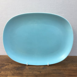 Poole Pottery Sky Blue & Dove Grey Oblong Platter, 12""