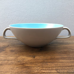Poole Pottery Sky Blue & Dove Grey Soup Cup
