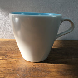 Poole Pottery Sky Blue & Dove Grey Tea Cup (Narrow - Contour)