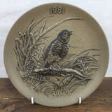 Poole Pottery 1981 Christmas Plate Stoneware
