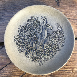"Poole Pottery Stoneware 5"" Plate - Deer"