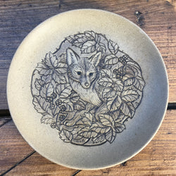 "Poole Pottery Stoneware 5"" Plate - Fox"