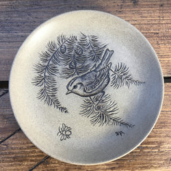 "Poole Pottery ""Stoneware Plates (5""/Small)"" - Goldcrest in Fir Tree"