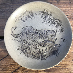 "Poole Pottery ""Stoneware Plates (5""/Small)"" - Lion Cub"