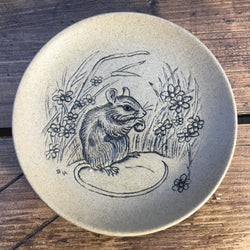 "Poole Pottery ""Stoneware Plates (5""/Small)"" - Mouse Eating Nut"