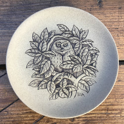 "Poole Pottery Stoneware 5"" Plate - Owl"