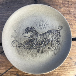 "Poole Pottery Stoneware 5"" Plate - Poodle"