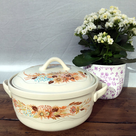 Poole Pottery Summer Glory Covered Veg Dish