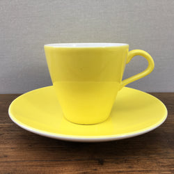 Poole Pottery Sunshine Yellow Tea Saucer
