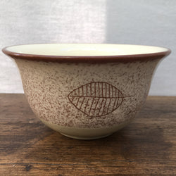 Poole Pottery Terracotta (Leaf) Rice Bowl