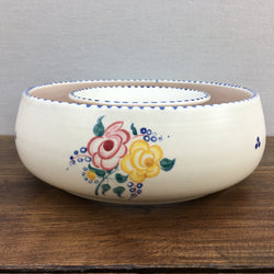 Poole Pottery Traditional Round Posy Trough, BF Pattern