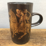 Purbeck Pottery Medieval Scenes Hunting Mug
