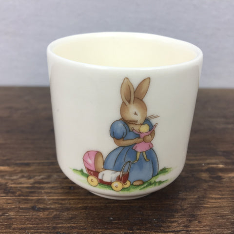 Royal Doulton Bunnykins Egg Cup Playing with Doll