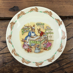 Royal Doulton Bunnykins Tea Saucer - Helping in Kitchen