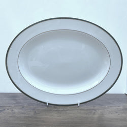 Royal Doulton Oxford Green Oval Platter, 13.25""