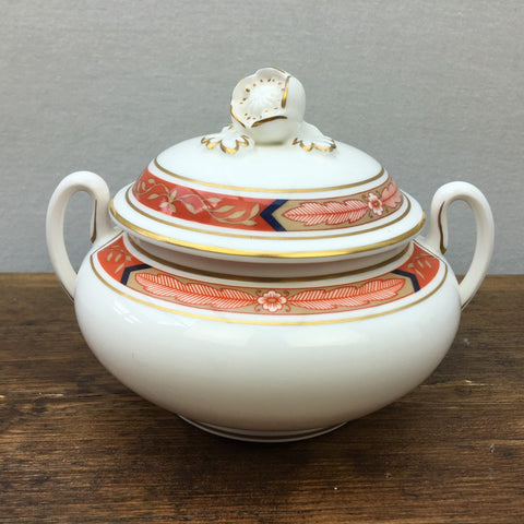 Royal Worcester Beaufort Rust Lidded Sugar