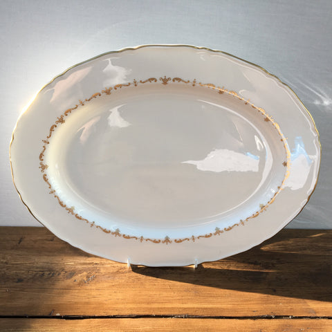 Royal Worcester Gold Chantilly Oval Platter, 15.75""