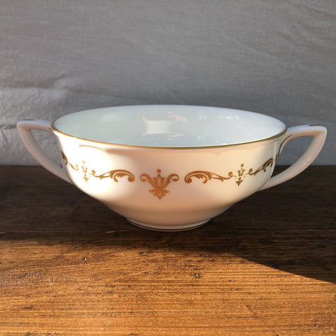 Royal Worcester Gold Chantilly Soup Cup