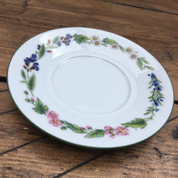 Royal Worcester Worcester Herbs Tea Saucer for Straight Sided Cups (Made in England)